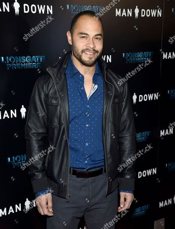 """Stock Photo of Jose Pablo Cantillo arrives at the Los Angeles premiere of """"Man Down"""" at ArcLight Cinemas Hollywood on"""