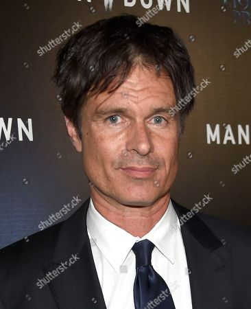 """Patrick Muldoon arrives at the Los Angeles premiere of """"Man Down"""" at ArcLight Cinemas Hollywood on"""