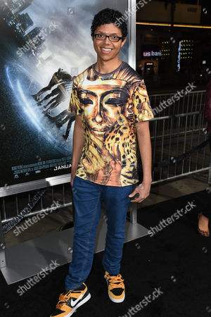 """Tay Zonday attends The Los Angeles Premiere of """"Project Almanac"""" at the TCL Chinese Theatre, in Los Angeles"""