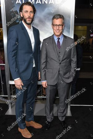 """Andrew Form, left, and Bradley Fuller attend The Los Angeles Premiere of """"Project Almanac"""" at the TCL Chinese Theatre, in Los Angeles"""