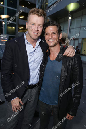 "Producer Joseph McGinty Nichol and Mark Kassen seen at Radius' ""Before We Go"" Premiere, in partnership with Heineken and Aventine Trattoria at the Arclight Cinemas, in Hollywood, CA"