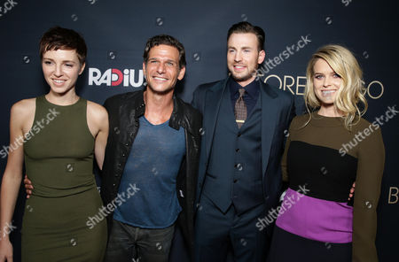 """Emma Fitzpatrick, Mark Kassen, Chris Evans and Alice Eve seen at Radius' """"Before We Go"""" Premiere, in partnership with Heineken and Aventine Trattoria at the Arclight Cinemas, in Hollywood, CA"""