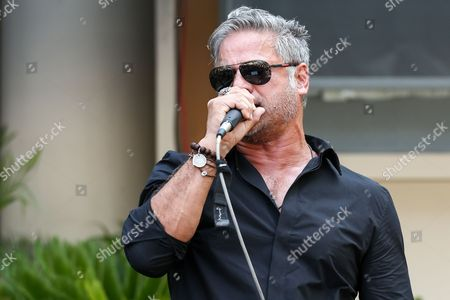 Jon Stevens performs at Ringo Starr's 76th birthday celebration held at Capitol Records, in Los Angeles