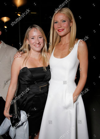"""Producer Miranda de Pencier and Gwyneth Paltrow arrive on the red carpet at the Los Angeles Premiere of """"Thanks for Sharing"""" at the ArcLight Cinerama Dome on in Los Angeles"""