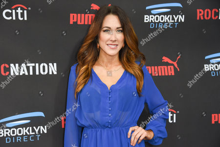 Stock Picture of Erin Coscarelli arrives at the Roc Nation Pre-Grammy Brunch at RocNation Offices, in Beverly Hills, Calif