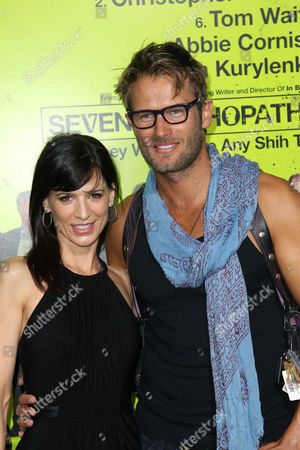 "Perry Reeves, left, and Johann Urb attend the premiere of ""Seven Psychopaths"" at the Bruin Theatre on in Los Angeles"