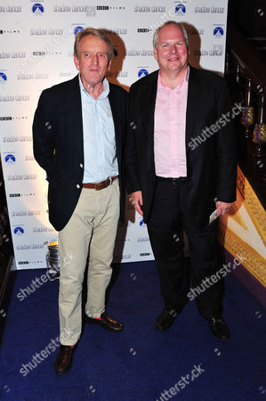 Sir Christopher Meyer, Adam Boulton poses at Shadowdance Premiere at Cineworld Haymarket on in London