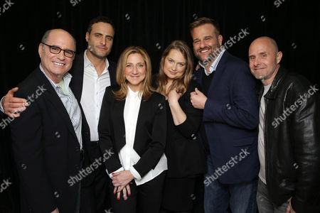 Paul Shulze Clyde Phillips, Dominic Fumusa, Edie Falco, Merritt Wever, Stephen Wallem and Paul Schulze seen at Showtime's 2015 Winter TCA held at the The Langham Huntington, Pasadena, in Pasadena, Calif