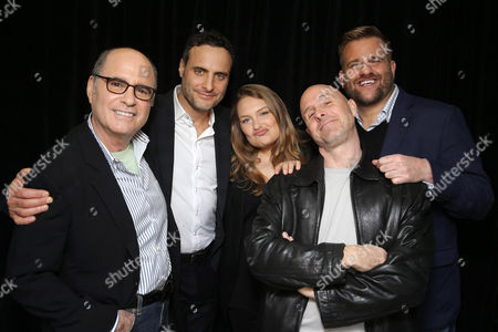 Clyde Phillips, Dominic Fumusa, Merritt Wever, Paul Schulze and Stephen Wallem seen at Showtime's 2015 Winter TCA held at the The Langham Huntington, Pasadena, in Pasadena, Calif