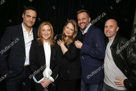 Dominic Fumusa, Edie Falco, Merritt Wever, Stephen Wallem and Paul Schulze seen at Showtime's 2015 Winter TCA held at the The Langham Huntington, Pasadena, in Pasadena, Calif