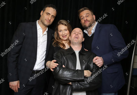 Paul Shulze Dominic Fumusa, Merritt Wever, Paul Schulze and Stephen Wallem seen at Showtime's 2015 Winter TCA held at the The Langham Huntington, Pasadena, in Pasadena, Calif