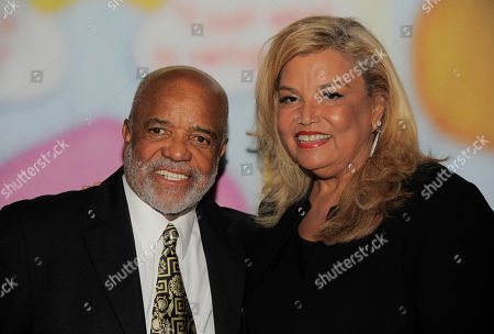 """Berry Gordy, left, and Suzanne de Passe pose together at """"Still Laugh In: A Toast to George Schlatter,"""" at the Saban Theatre on in Beverly Hills, Calif"""