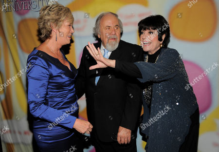 """Stock Image of George Schlatter, center, mingles with Sarah Purcell, left, and Jo Anne Worley at """"Still Laugh In: A Toast to George Schlatter,"""" at the Saban Theatre on in Beverly Hills, Calif"""