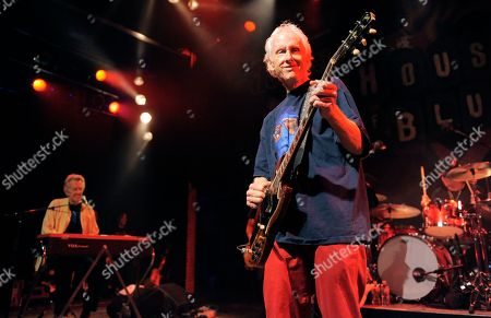 Robby Krieger Robbie Krieger, right, and Ray Manzarek of The Doors perform during the Sunset Strip Music Festival launch party celebrating The Doors at the House of Blues on in West Hollywood, Calif