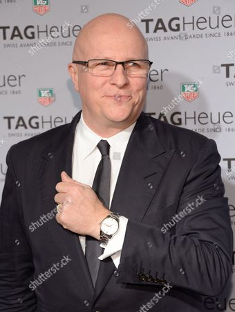 Tag Heuer CEO, Stephane Linder attends the Tag Heuer flagship store opening on in New York