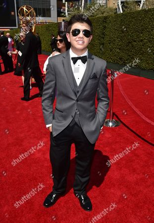 Bradley Steven Perry arrives at the Television Academy's Creative Arts Emmy Awards at the Nokia Theater L.A. LIVE, in Los Angeles