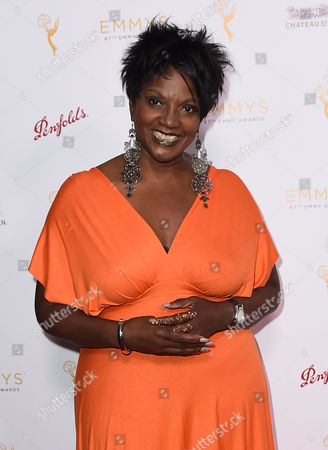 Anna Maria Horsford arrives at the Television Academy's 67th Emmy Performance Peer Group Celebration at the Montage Beverly Hills on in Beverly Hills, Calif