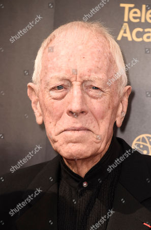 Max von Sydow arrives at night one of the Television Academy's 2016 Creative Arts Emmy Awards at the Microsoft Theater on in Los Angeles