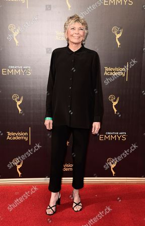 Stock Photo of Linda Ellerbee arrives at night one of the Television Academy's 2016 Creative Arts Emmy Awards at the Microsoft Theater on in Los Angeles