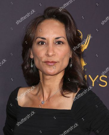 Michelle Bonilla arrives at the Television Academy's Performers Emmy Celebration at the Montage Beverly Hills on