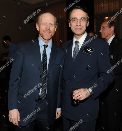 MARCH 11: Honoree Ron Howard (L) and Frank Morrone of the Academy in the audience at the Academy of Television Arts & Sciences 22nd Annual Hall of Fame Gala at the Beverly Hilton Hotel on in Beverly Hills, California