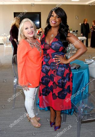 Charlene Tilton, left, and Niecy Nash attend the Television Academy's 70th Anniversary Gala and Opening Celebration for its new Saban Media Center, in the NoHo Arts District in Los Angeles