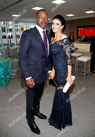 Carl Weathers, left, and Christine Kludjian attend the Television Academy's 70th Anniversary Gala and Opening Celebration for its new Saban Media Center, in the NoHo Arts District in Los Angeles
