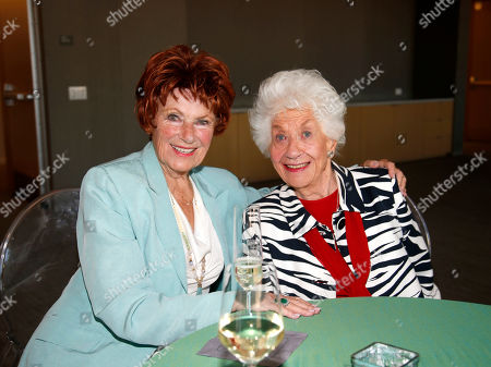 Marion Ross, left, and Charlotte Rae attend the Television Academy 70th Anniversary Gala and Opening Celebration for its new Saban Media Center, in the NoHo Arts District in Los Angeles