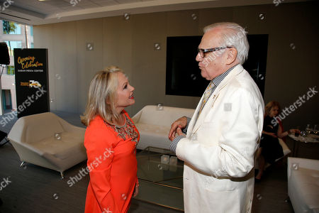 Charlene Tilton, left, and Ken Kercheval attend the Television Academy's 70th Anniversary Gala and Opening Celebration for its new Saban Media Center, in the NoHo Arts District in Los Angeles