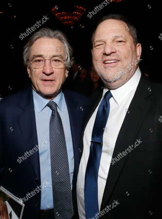 Actor Robert De Niro, left, and producer Harvey Weinstein attend the 24th Annual Producers Guild (PGA) Awards at the Beverly Hilton Hotel, in Beverly Hills, Calif