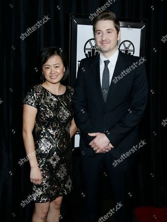 Rosa Tran, left, and Duke Johnson pose at The 41st Annual Los Angeles Film Critics Association Awards at the InterContinental hotel on in Los Angeles