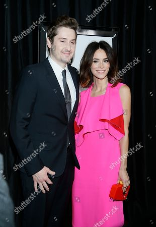 Abigail Spencer and Duke Johnson pose at The 41st Annual Los Angeles Film Critics Association Awards at the InterContinental hotel on in Los Angeles