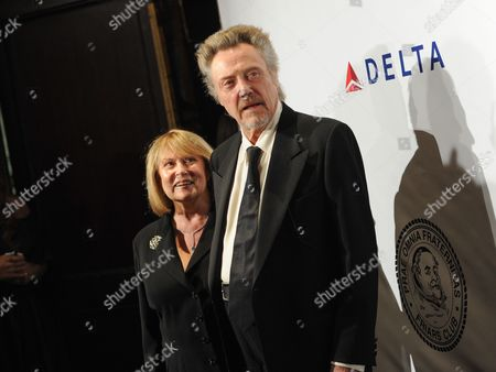 Actor Christopher Walken and wife Georgianne Walken arrive at The Friars Foundation Gala honoring Robert De Niro and Carlos Slim at The Waldorf-Astoria Hotel, in New York