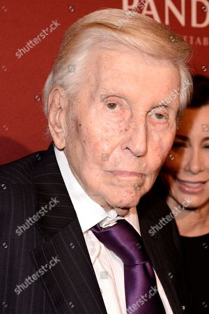 Sumner Redstone arrives at The Hollywood Reporter Nominees Night presented by Cadillac, Bing, Delta, Pandora jewelry, Qua, and Zenith, at Spago, in Beverly Hills, Calif
