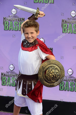 """Stock Picture of Tyler Champagne arrives at """"Hub Network's First Annual Halloween Bash"""", at the Barker Hanger in Santa Monica, Calif. The star-studded special will be broadcasted on the Hub Network on Saturday Oct. 26, 2013"""
