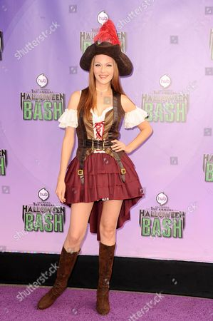 "Anna Easteden arrives at ""Hub Network's First Annual Halloween Bash"", at the Barker Hanger in Santa Monica, Calif. The star-studded special will be broadcasted on the Hub Network on Saturday Oct. 26, 2013"