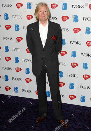 Stock Image of Justin Haywood arrives for the 58th Ivor Novello awards at the Grosvenor House in London on