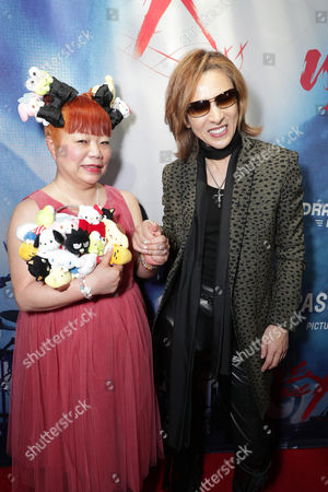 """Yuko Yamaguchi and Yoshiki seen at The Los Angeles Premiere """"We Are X"""", in Los Angeles, CA"""