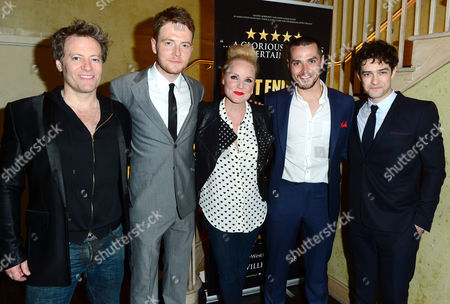 Stock Picture of Glenn Carter, David Thaxton, Kerry Ellis, Matt Willis and Lee Mead at The West End Men after party in London on Monday, May 3rd, 2013