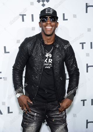 Stock Picture of Young Dro arrives at TIDAL X: 1020 Amplified by HTC at the Barclays Center, in New York
