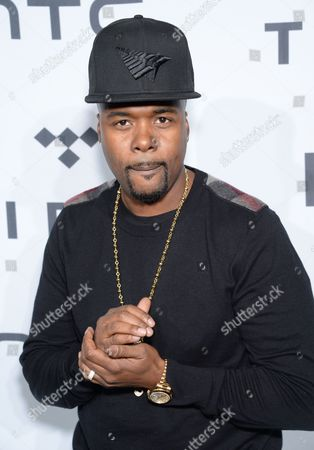 Memphis Bleek arrives at TIDAL X: 1020 Amplified by HTC at the Barclays Center, in New York