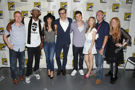 Writer Mark Millar, Samuel L. Jackson, Sofia Boutella, Colin Firth, Taron Egerton, Sophie Cookson, Writer Dave Gibbons and Screenwriter Jane Goldman seen at Twentieth Century Fox Panel at 2014 Comic-Con, in San Diego, Calif