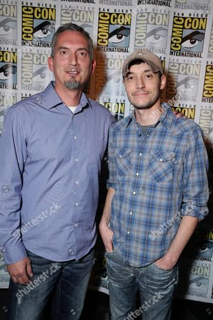 James Dashner and Wes Ball seen at the Twentieth Century Fox Presentation at 2015 Comic Con, in San Diego