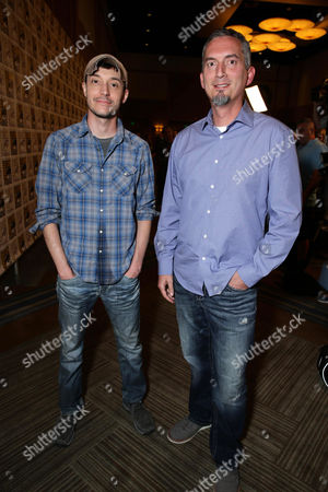 Director Wes Ball and Author James Dashner seen at the Twentieth Century Fox Presentation at 2015 Comic Con, in San Diego