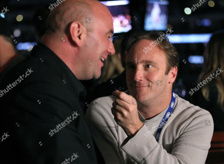 Dana White; Jay Mohr UFC President Dana White, left, and Jay Mohr attend the UFC on Fox event at Staples Center, in Los Angeles