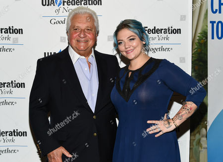 """Sony/ATV CEO Martin Bandier and singer Elle King attend the UJA-Federation of New York's """"Music Visionary of the Year Award"""" luncheon at The Pierre Hotel, in New York"""