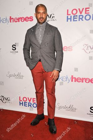 Terrell Tilford arrives at the Unlikely Heroes Red Carpet Spring Benefit, in Los Angeles