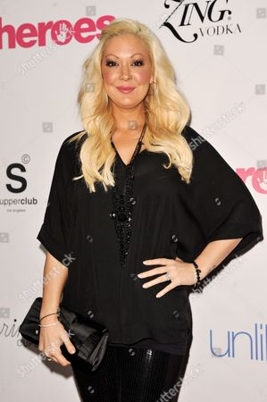 Stock Image of Katie Cazorla arrives at the Unlikely Heroes Red Carpet Spring Benefit, in Los Angeles
