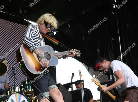 Christofer Drew with Never Shout Never performs during the Vans Warped Tour 2015 at Aaron's Amphitheatre, in Atlanta