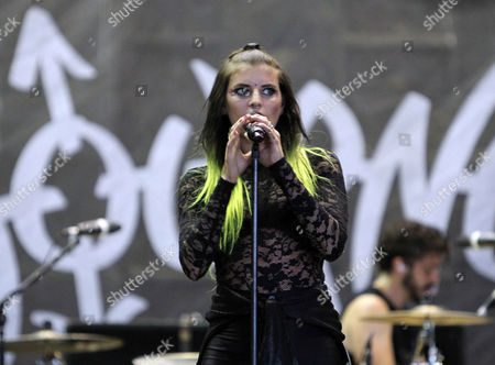 Juliet Simms performs during the Vans Warped Tour 2015 at Aaron's Amphitheatre, in Atlanta